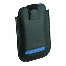 Dulwich Designs Black Leather iPhone 4 & 4S Case Blue Lining 70848