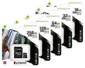 Kingston Micro SD SDHC SDXC 16GB 32GB 64GB 128GB 256GB Class10 Memory Card Phone