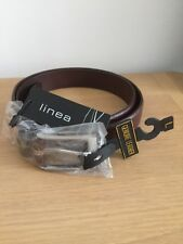 House of Fraser Linea Brown Leather  Belt Size Large RRP £24 - New With Tags