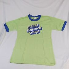 Seagram's Gin & Schweppes Tonic Water T-Shirt L (42-44) Meant For Each Other