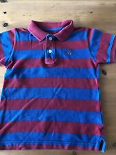 GAP Boys Polo Shirt Age 3 Striped Red