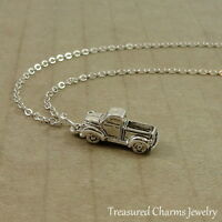 Silver Pickup Truck Charm Necklace - Chevy Ford Truck Pendant Jewelry NEW