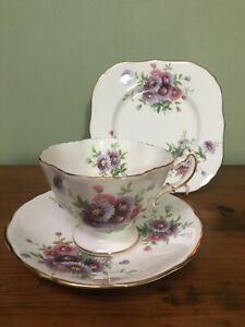 Stunning! VINTAGE CUP SAUCER PLATE TRIO CSP FOR HIGH AFTERNOON TEA Hammersley