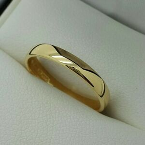 18ct Yellow Gold 2.5mm Plain Wedding Band / Ring, Finger Size K