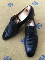 Gucci Mens Shoes Black Leather Lace Up UK 9 US 10 EU 43 Interlocking G