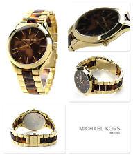 Michael Kors Women's Runway Tortoise Gold Tone Stainless Steel Watch 42MM MK4284