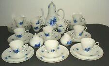 Rosenthal  Romanze Kaffeeservice.Blaue Blume.Björn Wiinblad.Für 12 Personen.