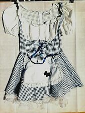 Dorothy Wizard of Oz Gingham Dress with apron & dog image: girl size 14-16