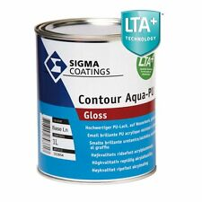 SIGMA COATINGS CONTOUR AQUA PU GLOSS- 2,5 lt - QUALSIASI COLORE-SMALTO ALL'ACQUA