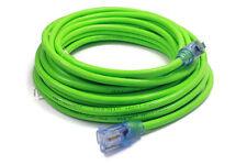 50 ft Extension Cord 3 Plug Lighted 12/3 Gauge Indoor Outdoor Heavy Duty Green