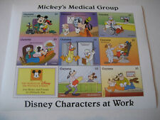 GUYANA   1995    DISNEY CHARACTERS AT WORK-MICKEY'S MEDICAL GROUP SHEETLET