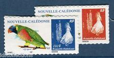 """Paire Cagou 1206/07 adhésifs de Nouvelle calédonie 2013 """"Oiseau Loriquet"""""""