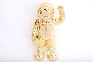 Astronaut Figure Gold Moneybox Spaceman NASA Alpha Omega 25cm