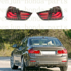 4PCS Tail Lights Assembly LED Smoked Black Refit For BMW 3-Series E90 2009-2012