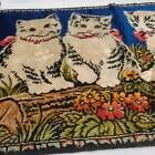P&C R.T. Co Vintage Italy Cat Tapestry Wall Hanging 19'' x 37''
