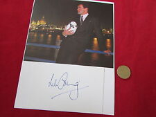 Will  CARLING  in Suit  Rugby Union Legend  Original HAND SIGNED Display