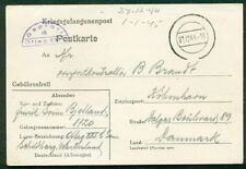 Denmark 1944, Wwii incoming to Denmark Pow postcard
