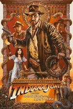 PLAQUE MÉTAL  FILM INDIANA JONES    30 X 20 CM