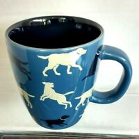 Hatley Blue cup with labs all over 14oz Coffee/Tea mug Pre-Owned