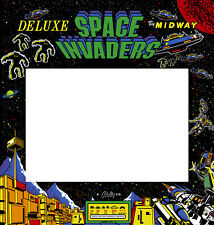 Space Invaders Deluxe Arcade Monitor Bezel Sticker Decal