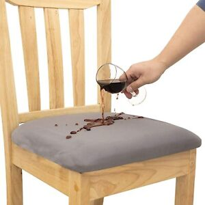Waterproof Chair Seat Covers for Dining Room Chairs Removable Washable