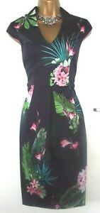 💝BEAUTIFUL PHASE EIGHT BLUE FLORAL ORIENTAL STYLE EVENING PARTY DRESS UK 10