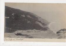 The Cliffs At Fairlight Hastings Vintage RP Postcard Douglas Miller 713a