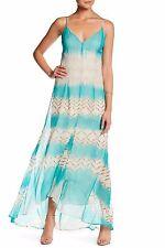 CHARLIE JADE Print Silk Chiffon Maxi Dress (size L)