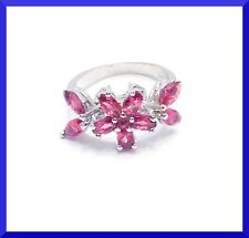 NEW RED GARNET 925 SILVER RING Size 6.5 FREE SHIPPING # 108