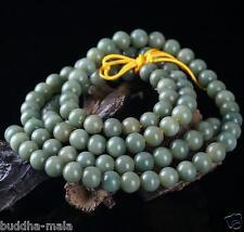 Green Bodhi Seeds Round 108 8mm Prayer Beads Buddha Meditate Mala Necklace