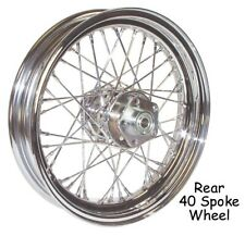 "40 Spoke 16"" Chrome Rear Wheel 16 x 3 fr 79-99 Harley Sportster Dyna FXR Softail"