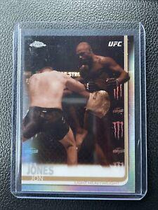 Jon Jones #1 Sepia Refractor Parallel Card 2019 UFC Chrome Topps INVEST!!