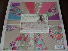 Crafters Companion Sara Signature Collection-Floral deleite Almohadilla de 12ins X 12ins