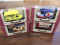 OXFORD 4 x Radio Times diecast model vans & bus Limited Edition + Certificate
