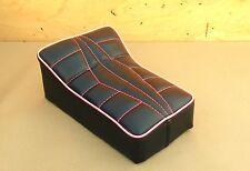"""10"""" X 7"""" BLACK/PINK MINIBIKE SEAT MINI BIKE SCOOTER HIAWATHA HILLCAT HAP JONES"""