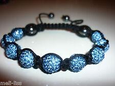 Shamballa Light Blue Czech Crystal Bracelet - Bangle