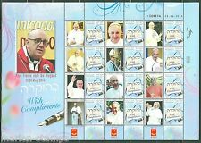 ISRAEL 2014 'THE VISIT OF POPE FRANCIS'  WITH COMPLIMENTS  GENERIC SHEET ENGLISH