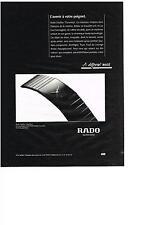 PUBLICITE ADVERTISING  1993    RADO  montre l'avenir à votre poignet