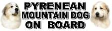 PYRENEAN MOUNTAIN DOG ON BOARD Car Sticker by Starprint
