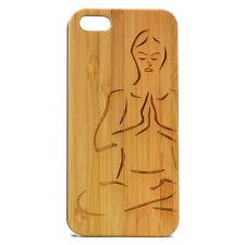 Namaste Case for iPhone 7 Yoga Pose Meditation Bamboo Wood Phone Cover