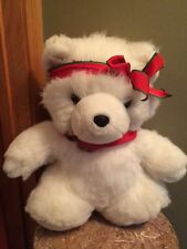 Vintage 1987 Dayton Hudson Miss Santa Bear plush stuffed animal Christmas white