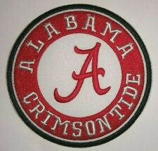 """Alabama Crimson Tide Embroidered PATCH~3 1/2"""" Round~Iron Sew On~FREE Shipping"""