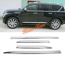 For 2013-2019 Infiniti QX56 QX80 ABS Chrom Car Side Door Body Cover Molding Trim