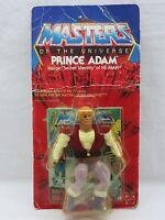 MOTU,Vintage,PRINCE ADAM,Masters of the Universe,MOC,carded,Sealed,figure,He-Man