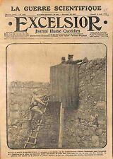 Poste Observation Poilus Soldats Echelle Fortin Bataille de la Somme WWI 1915
