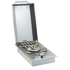 Stainless Steel Single SIDE BURNER Drop In Built in BBQ Grill Island