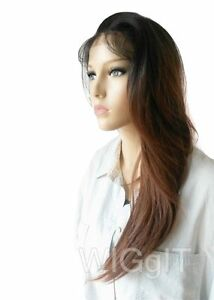 RIANNE | AUBURN OMBRE | SYNTHETIC STRAIGHT LONG LACE FRONT WIG | SLEEK FASHION