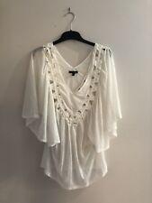 Ladakh ladies/ Women's White top Size XS Like New