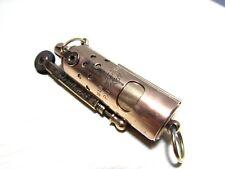 Accendino vintage antico benzina raro IMCO IFA ottone trincea Lighter Briquet