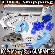 Cast Iron Manifold+BLUE T3/T4 Turbo+38mm ADJ. Wastegate for 93-01 Prelude H22